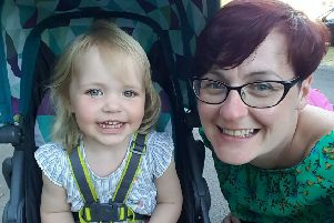 Megan Clarkson with her mother Kelly, who says the two-year-old's fatal symptoms were not taken seriously. Picture: SWNS
