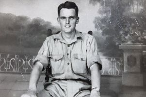 Harry Golding, who has died aged 98, in his wartime days