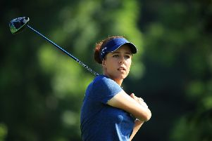 Georgia Hall will team up with Harry Tyrrell, her boyfriend and caddie. Picture: Andrew Redington/Getty Images
