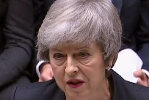 Britain's Prime Minister Theresa May as she speaks in the House of Commons. Picture: AFP/Getty Images