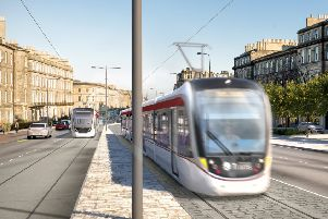 An artist's impression of trams on Leith Walk ' the likely outcome of tomorrow's meeting