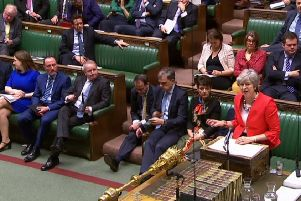 Theresa May addresses the House of Commons ahead of the second 'meaningful vote' on her Brexit deal (Picture: AFP/Getty Images)
