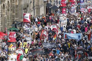 The crowd on Edinburgh's Royal Mile during the Edinburgh Fringe Festival. Picture: Jane Barlow / PA