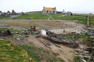 A derelict cottage on the island of Swona whose last residents left in 1974. PIC: www.geograph.org.uk/Robert Baharie.