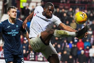 Uche Ikpeazu has worked hard to reach Hearts' second cup semi-final of the season having missed the Betfred Cup semi due to injury. Picture: SNS.