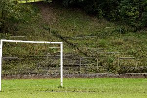 Terracing and barriers are still visible at Cathkin Park, former home of Third Lanark