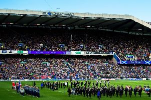 People are calling for an end to the 'prejudicial and nonsensical policy' at Murrayfield. Picture: SNS