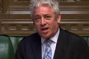 The incident was condemned as 'despicable' by John Bercow. Picture: PA