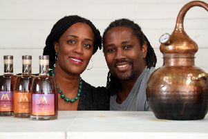 Jacine and Paul Rutasikwa, founders of Livingston-based distiller Mattuga Beverages, will be among the key speakers at the event. Picture: Stewart Attwood