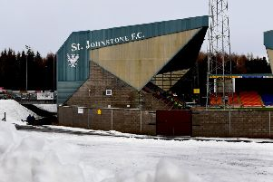 St Johnstone's match with St Mirren has been postponed due to snow. File picture: SNS Group