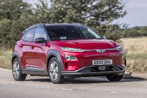 The Kona dispenses with the petrol car's grille