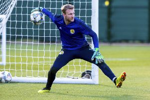 New 'Scotland goalkeeper Scott Bain. Picture: SNS