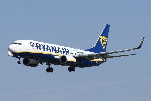 Ryanair has one of the biggest gender pay gaps out of reporting firms in the UK. Picture: AFP/Getty Images