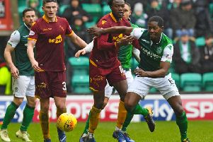 Marvin Bartley enjoys the cross-city banter of the Hibs v Hearts rivalry. Picture: SNS.
