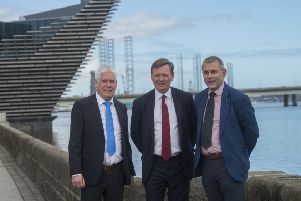 From left: Callum Falconer, CEO of Dundeecom; Charles Hammond, group CEO of Forth Ports; and Bill Cattanach, head of supply chain of the Oil and Gas Authority. Picture: Alan Richardson.