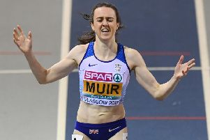 The pressure was on Laura Muir at the European Indoors in Glasgow but she defended her 1,500m and 3,000m titles in fine style. Picture: SNS