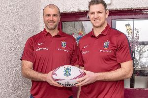 Watsonians' new coaching team: Fergus Pringle, left, and Nikki Walker. Picture: East West Media
