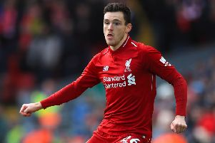 Andrew Robertson will sit out the Kazakhstan game. Picture: PA