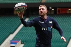 Finn Russell revealed he played against England with a fractured cheekbone. Picture: Getty Images