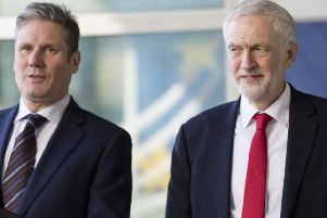 Labour leader Jeremy Corbyn and shadow Brexit Secretary Sir Keir Starmer