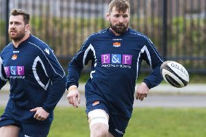 Edinburgh's John Barclay in training. Picture: Paul Devlin/SNS
