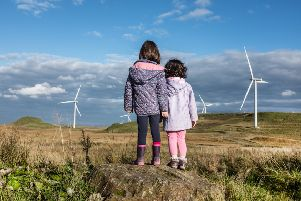 Renewable energy, particularly wind power, is the fastest-growing natural resource consumed in Scotland. Picture: John Devlin