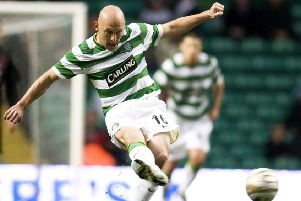 Thomas Gravesen in action for Celtic. Picture: SNS