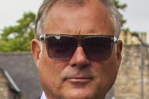 Former Blue Peter presenter John Leslie's arrives at Edinburgh Sheriff Court over an alleged sexual assault. The ex-Wheel of Fortune host denies the accusation and has been going under his real name of John Stott. 18 June 2018.