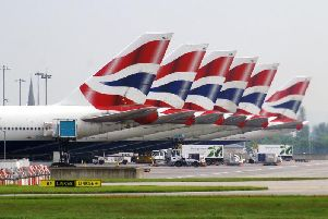 The pilot of the British Airways flight was given the wrong destination on the paperwork.