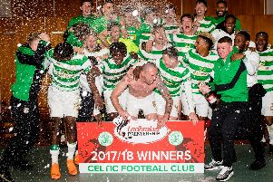 Celtic finished the 2017-2018 league campaign on 82 points