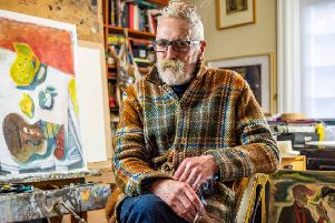 Artist John Byrne will launch Nuart Aberdeen festival of street art next month - more than 40 years after he painted one of the first large scale murals in the country on the side of a Glasgow tenement block. PIC: Contributed.