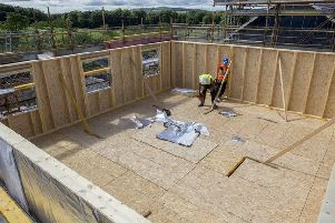 An offsite timber frame house under construction - one of the innovative techniques AIMCH is investigating. Picture: Contributed