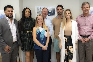 ESpark's Gayle Mann, front row and centre left, attends the launch of Ignite in Bermuda and is joined by some of the team and entrepreneurs. Picture: Contributed