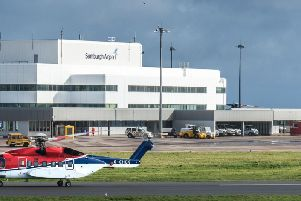 Sumburgh Airport in Shetland would be among those affected by the shutdown. Picture: Hial