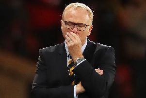 Under pressure: Alex McLeish. Picture: Getty Images