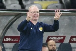 Scotland head coach Alex Mcleish. Picture: AP