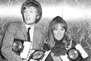 Scott Walker at a presentation with Scotland's own Lulu in 1968 (Picture: Getty Images)