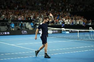 Andy Murray after his first round exit at the Australian Open this year. Picture: Getty