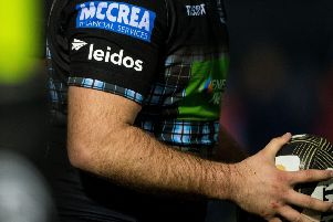 Leidos sponsors Glasgow Warriors. Picture: SNS