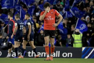 Ulster's Jacob Stockdale is distraught after defeat in Dublin.  Picture: Donall Farmer/PA Wire