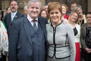 SNP Westminster leader Ian Blackford with Scotland's First Minister Nicola Sturgeon. Picture: PA