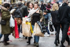 Christmas shoppers on one of the very busiest days of the year.