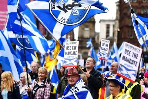 Independence supporters want a second referendum in response to the Brexit turmoil