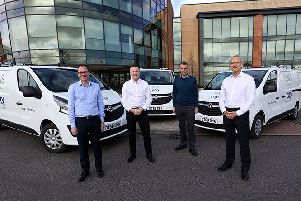 From left: Colin Seggie, CEO UK & Europe at City, Michael Hughes, CEO at City, Ian Moore and Gordon Ellen of Marks and Spencer. Picture: Stewart Robertson
