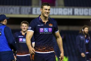 Second row Callum Hunter-Hill has signed a new deal with Edinburgh. Picture: Bruce White/SNS