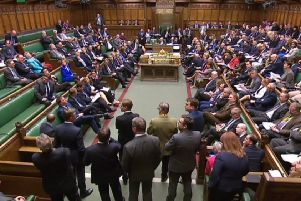A video grab shows MPs in the House of Commons, following the outcome of the second round of indicative votes on the alternative options for Brexit. Picture: Getty