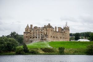 """29/08/17 . LINLITHGOW. Linlithgow Palace. 'FILMING has begun in Scotland on a big-budget movie about Robert the Bruce. Visitors won�""""t be able to tour Linlithgow Palace until Sunday, August 31 as filming of the Outlaw King gets underway.''The Netflix release is based around Robert the Bruce and is directed by Oscar-nominated Scot David Mackenzie and starring Hollywood star Chris Pine. READ MORE: Wanted - Extras for new Robert the Bruce film A poster for the feature film described it as: �SA true David v Goliath story of how the great 14th century Scottish ��Outlaw King�"""" Robert The Bruce used cunning and bravery to defeat and repel the much larger and better equipped occupying English army.⬝ READ MORE: Face of Robert the Bruce reconstructed by scientists A Historic Environment Scotland spokesman said: �SWe can confirm that Linlithgow Palace will be temporarily closed to visitors from Sunday 27 August to Thursday 31 August, inclusive. �SThis is to accommodate third party filming within the palace and g"""
