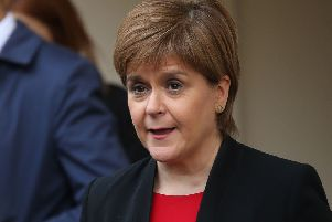 Scotland's First Minister, and leader of the Scottish National Party (SNP), Nicola Sturgeon. (Photo by ISABEL INFANTES / AFP)ISABEL INFANTES/AFP/Getty Images