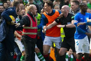 Celtic and Rangers players clashed after the Old Firm derby. Picture: SNS/Craig Foy