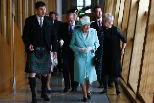 The Queen opens the fifth session of the Scottish Parliament in 2016